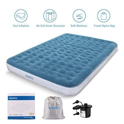 Air Mattress Queen Size Airbed Deeplee Blow Up Bed Inflatable Mattress With Rechargeable Air Pump For Home Camping Gu Aufblasbares Bett Luftmatratze Aufblasbar