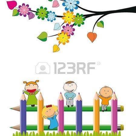 Dibujos de ni os jugando en el jardin buscar con google for Jardin dibujo