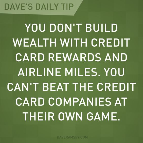 You don't build wealth with credit card rewards.