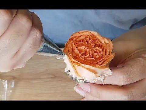 Shy Juliet Rose Bean Paste Flower Making Youtube Cake Decorating Videos Buttercream Flowers Tutorial Fondant Flower Cake
