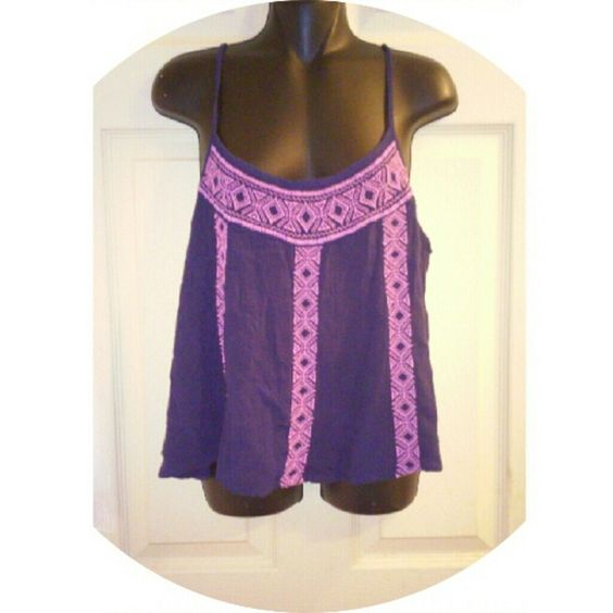 New Listing  Bohemian Tank Great condition. Embroidered. 11-21-15 Mossimo Supply Co. Tops Tank Tops