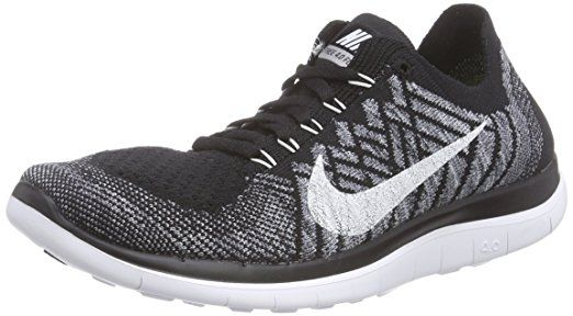 Nike Free 40 Flyknit Womens Running Shoes 8 Blackwhitewolf Grey