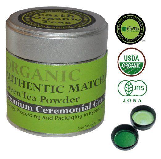 Matcha Green Tea Powder. Japanese-Organic, Uji Ultra Premium Ceremonial Grade. Best Antioxidant Green Tea for Good Health, Energy and Vitality. 1 oz (30 g) Tin.