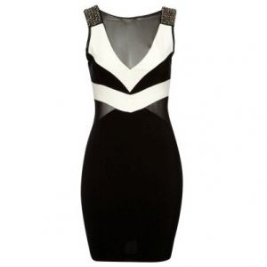 Panelled Contrast Bodycon Dress, Lipsy