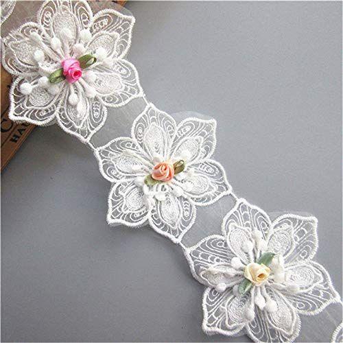 3 Yards Floral Lace Trim Ribbon Wedding Applique Dress Sewing Decor Craft