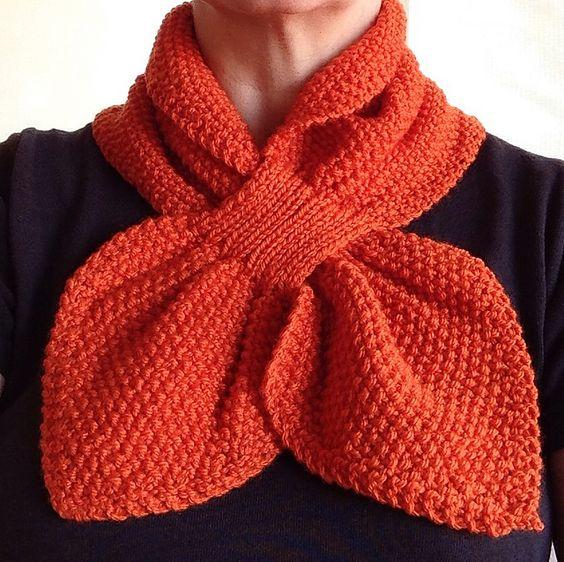 Knit Keyhole Scarf Pattern : Moss Stitch Keyhole Scarflette pattern by Jo-Anne Klim Moss stitch, Librari...