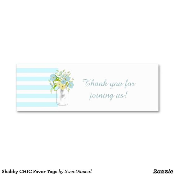 Shabby CHIC Favor Tags Pack Of Skinny Business Cards