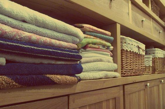 folded piles of clothing
