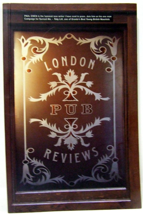 London Pub Reviews Autobiography England Great Britain Traveling Memoir Humor