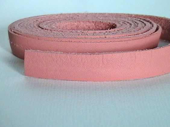 10mm Deertan Leather Lace  Pink  3 Feet by IGraphicSupplies, $4.25