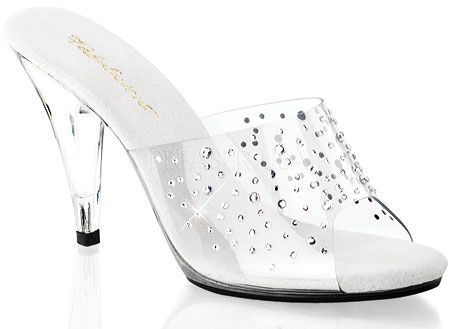 Fabulicious Caress 401RS - Clear/Clear - FREE Shipping & Returns | Shoebuy.com