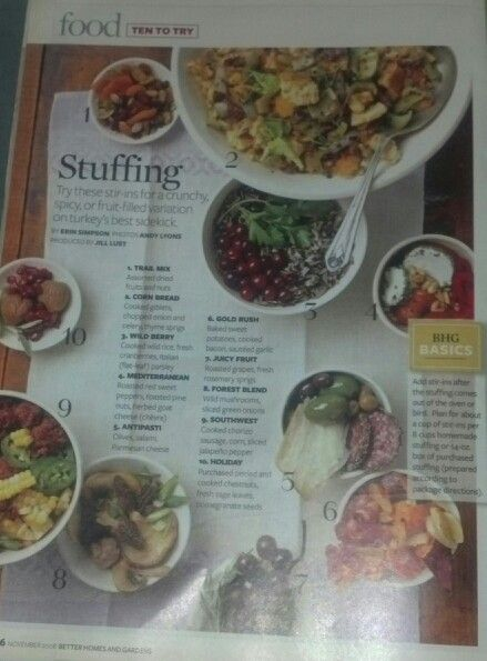 Ideas for stuffing (BH & G Nov 2008)
