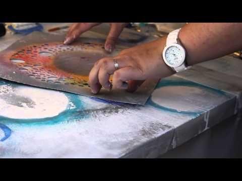 ▶ On apprend quoi aujourd'hui? Une peinture abstraite avec Tiffany Haefliger. - YouTube