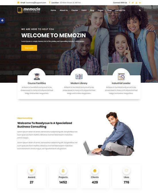 70 Best Education Website Templates Free Premium Freshdesignweb Education Website Templates Website Template Design Free Website Templates