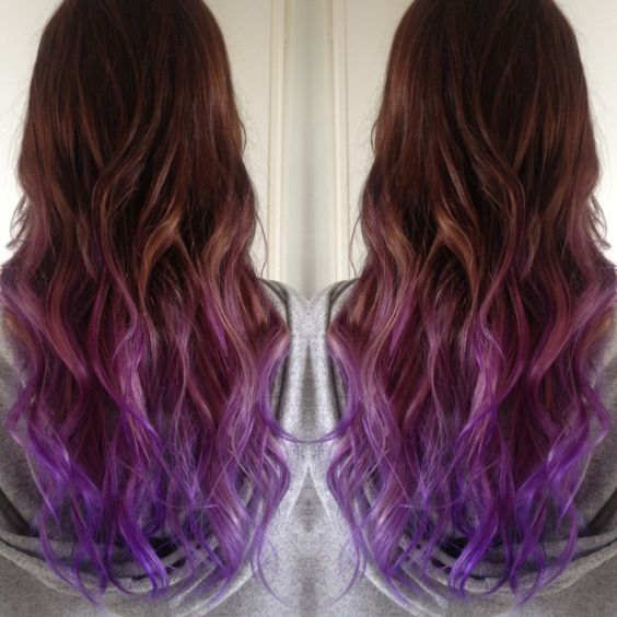 Winner! Purple ombre hair. Probably the closest to what mine with look like because my hair's brown and thin.