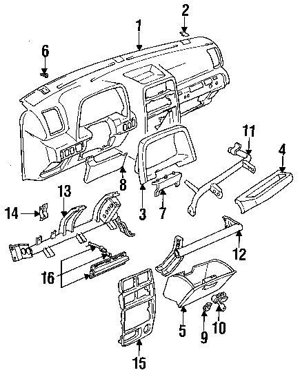 1991 Geo Tracker Parts Diagram