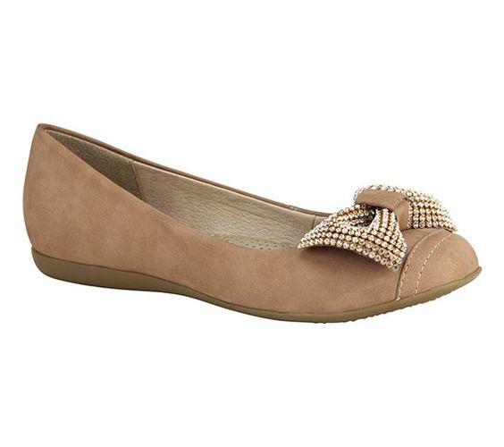 Sapatilha couro nobuck com laço | Sapatilhas | Bottero Calçados