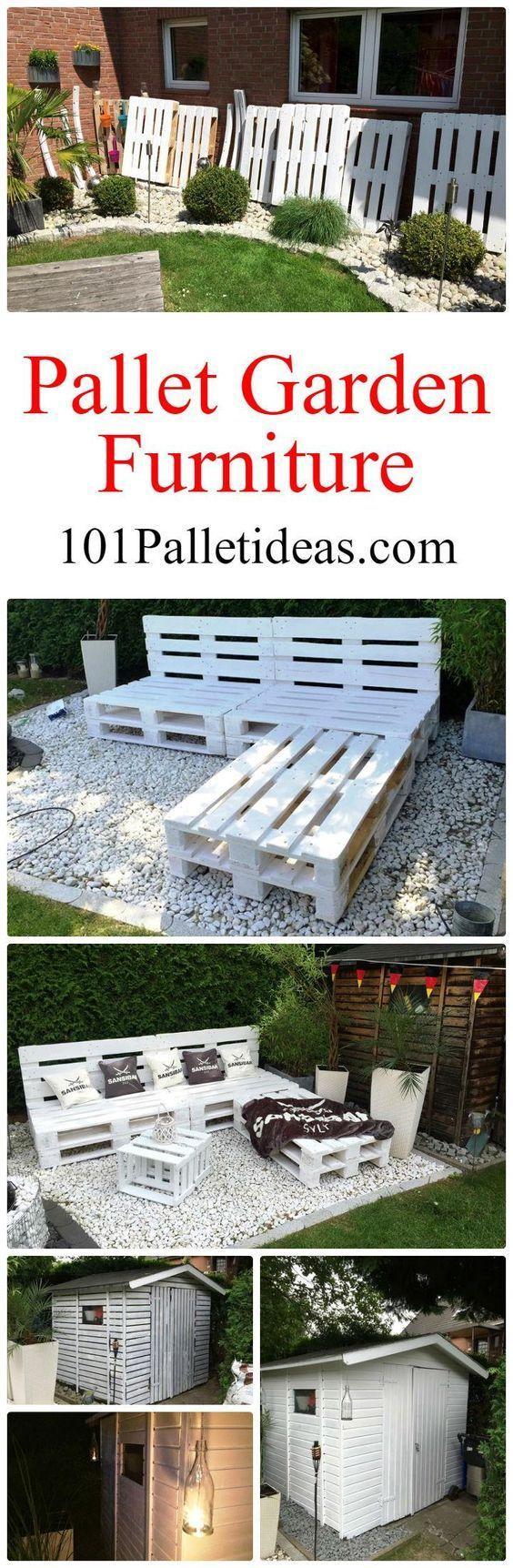 pallet garden furniture diy 101 pallet ideas - Garden Furniture Eastbourne