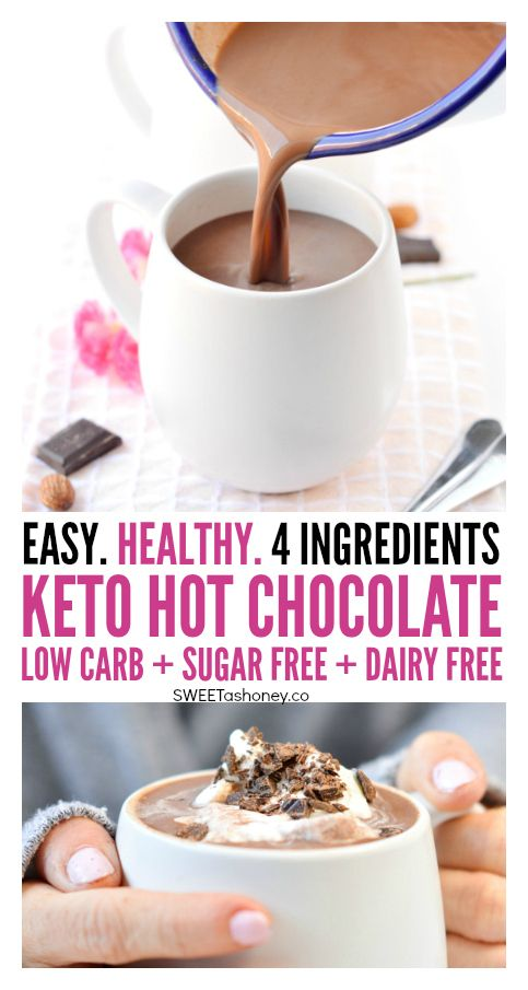 Low Carb Hot Chocolate With Almond Milk And Unsweetened Cocoa Powder 100 Keto Keto Hot Chocolate Recipe Almond Milk Recipes Hot Chocolate With Almond Milk