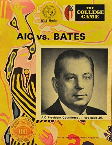 October 18th, 1969 The College Game Aic Vs. Bates College Football Program