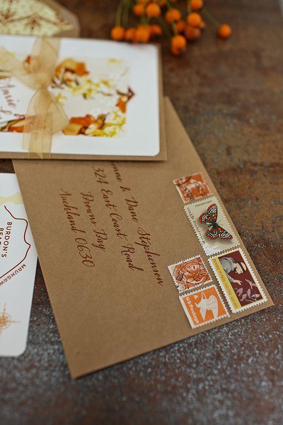 Autumn wedding invitation ideas: #weddinginvitations