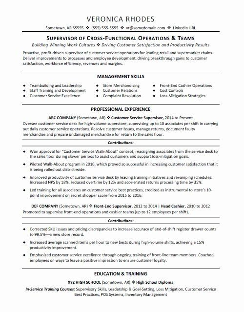 Production Supervisor Resume Examples Best Of Supervisor Resume Sample In 2020 Resume Examples Resume Skills Best Resume Template