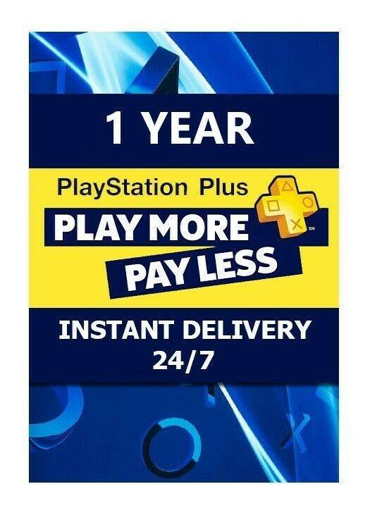 Ps Plus 1 Year Playstation Plus Ps4 Ps3 Vita 26 X 14 Day Membership No Code Sony