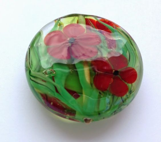 "Beusha Joyeria: Flower Power Linse/ Lentil bead ""Flower Power"""