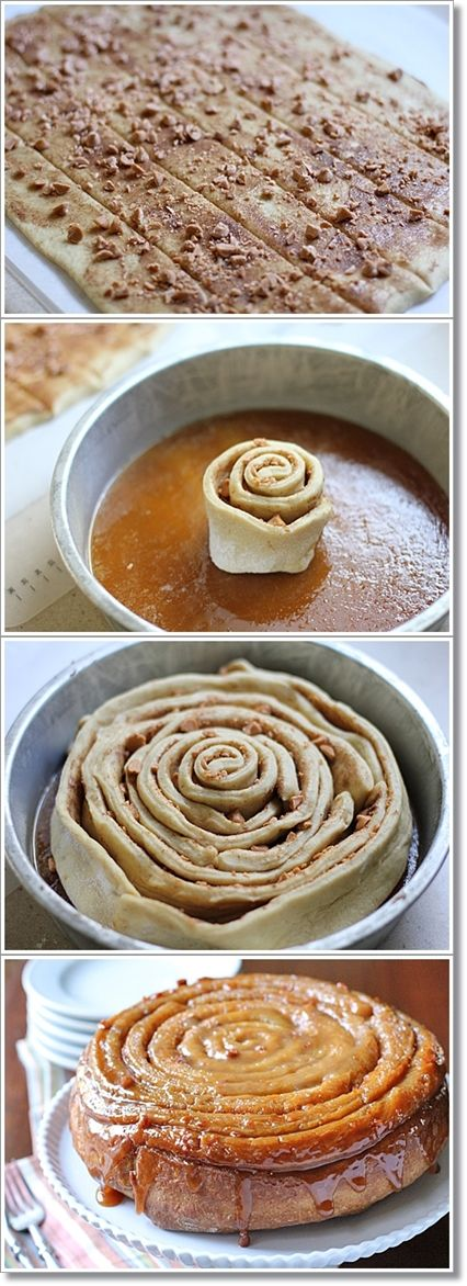 Butterscotch Spiral Coffee Cake: