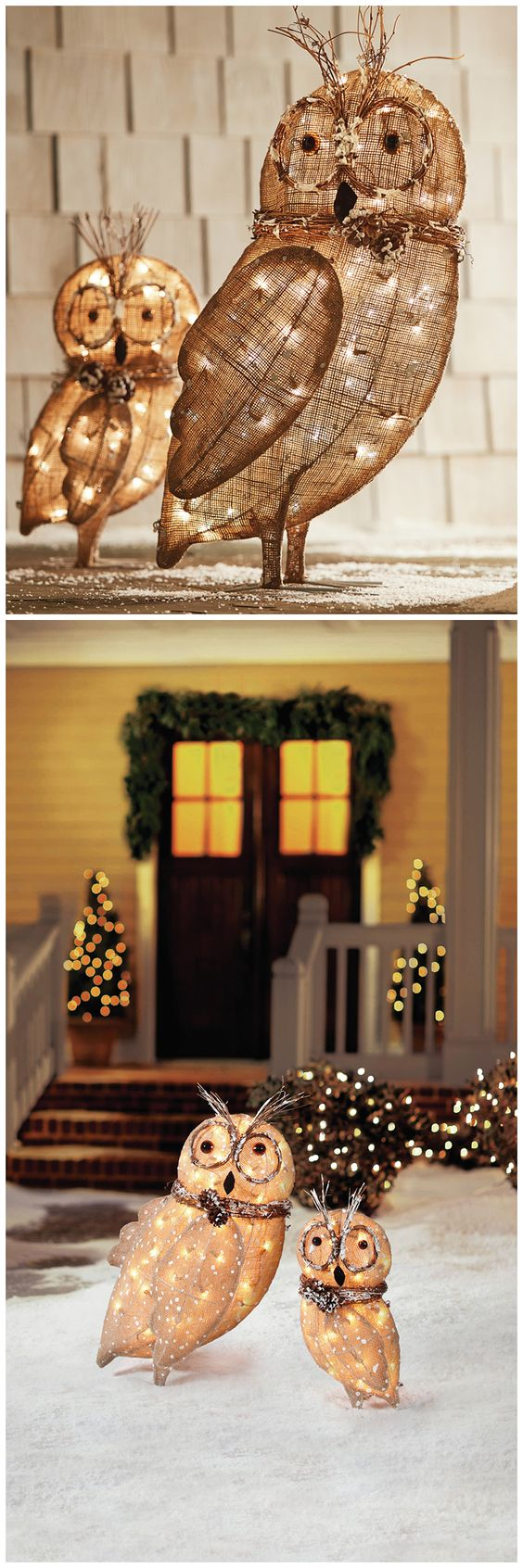 Outdoor christmas owl and holiday looks on pinterest Classic outdoor christmas decorations