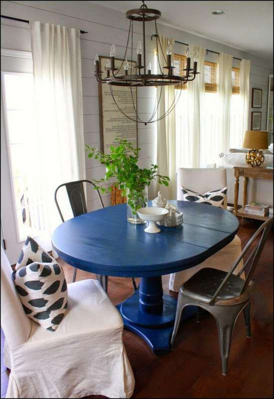 Blue Dining Room Table Blue Dining Tables Blue Kitchen Tables
