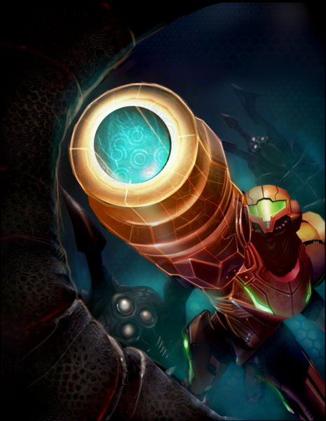 Samus and Dark Amorbis (Metroid Prime 2: Echoes)