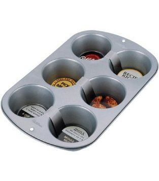 Amazon.com: Wilton 6-Cup Jumbo Muffin Pan: Kitchen & Dining