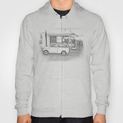Fiat Cinquecento - 500 Hoody by Rainer Steinke - $38.00 fiat Cinquecento 500 oldtimer auto car drawing zeichnung #fiat #Cinquecento #500 #oldtimer #auto #car #drawing #zeichnung #fiat500 #italy