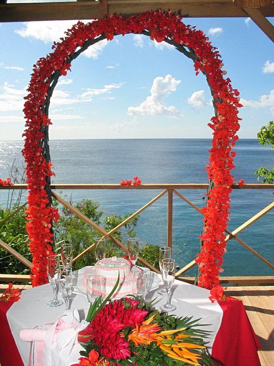 Kai Belte Spa overlooking the Caribbean Sea