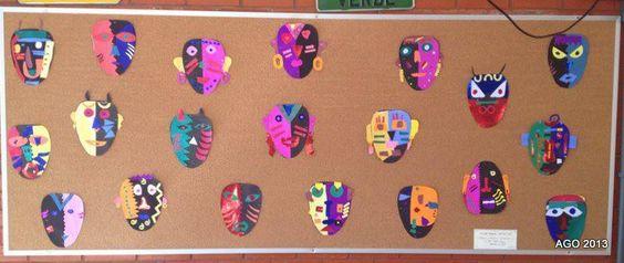 Máscaras Africanas  3º ano AZUL ( Quarta - Quinta - Sexta )