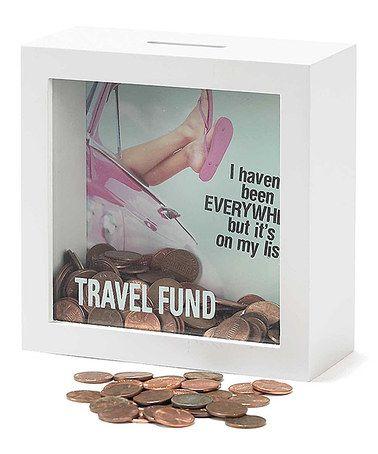 Loving this Travel Fund Shadow Bank on #zulily! #zulilyfinds
