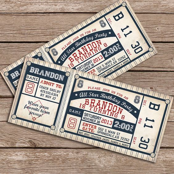 Baseball Invitation  Printable Invitation by LittleMountainTop, $12.00; can have them print (see link)