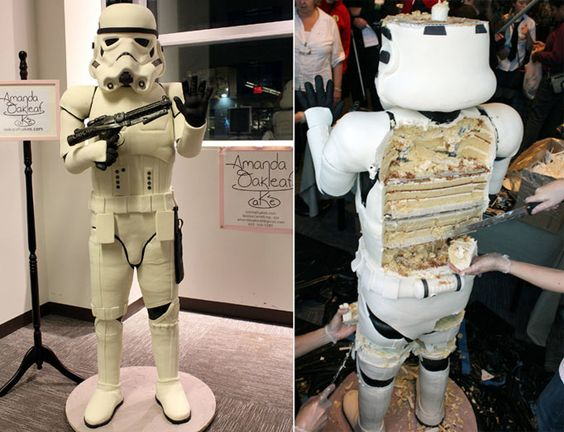 Stormtrooper Cake!!! My older brother would LOVE this!!!!