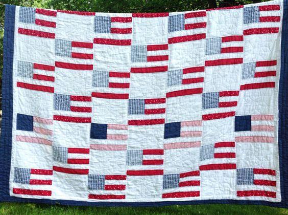 Vintage flag quilt!: