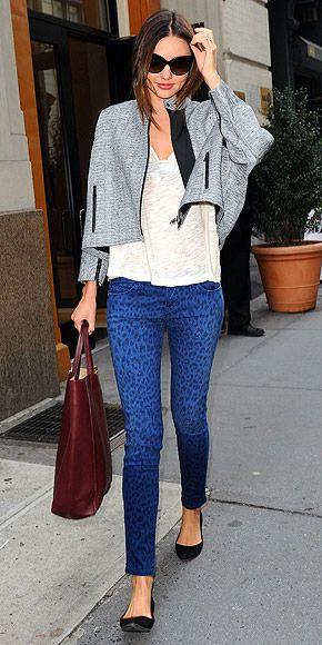 Blue leopard print pants...? It works