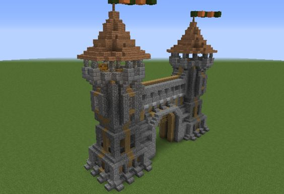Medieval Gatehouse 2 - GrabCraft - Your number one source for MineCraft buildings, blueprints, tips, ideas, floorplans!