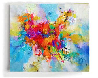 Moderne Kunst-abstrakte Malerei Original Gemälde von GabiGerArt