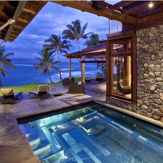 """""""Beachside Villa Living Via @luxclubboutique"""""""