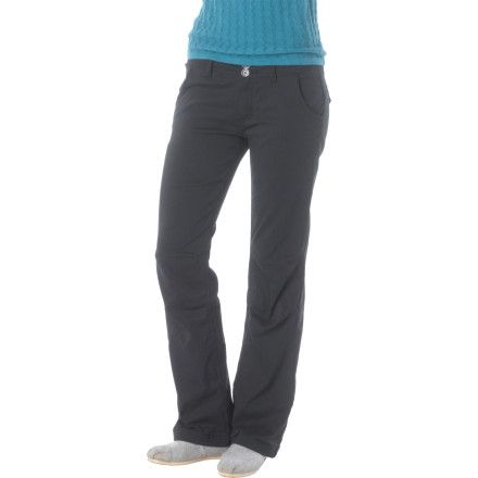 You don't want to have to change pants every time you do something new, which is why the super-versatile Prana Lined Halle Women's Pant is so awesome. The quick-drying and wrinkle-resistant fabric is treated with a DWR coating to repel water, while the relaxed fit and cozy lining make them as perfect for travel as for climbing at your local crag.