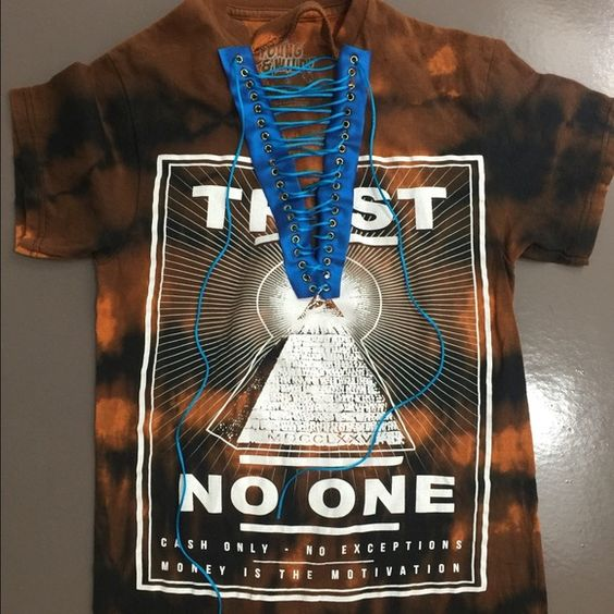 Trust no one (Customized Tee) Trust no one, money is the motivation TEE. All products are made customized, no one tee is the exact same. Custum  Tops Tees - Short Sleeve