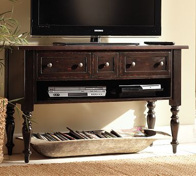 Would love to get something like this to replace our current media stand except I would hang the TV on the wall instead.