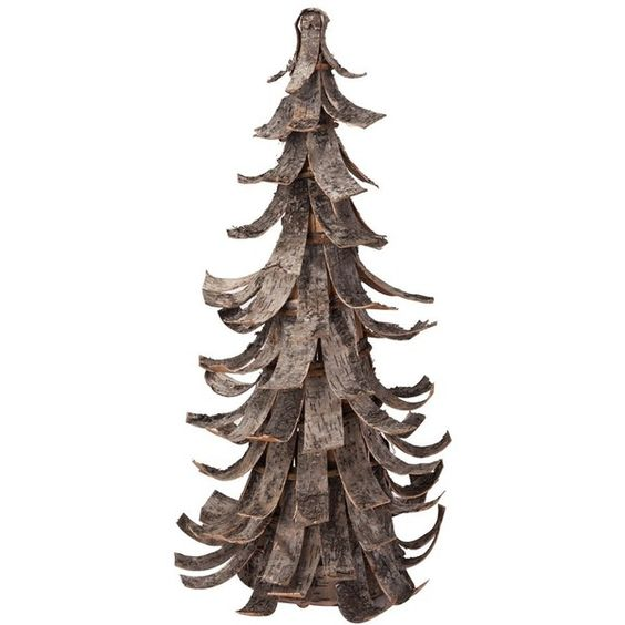 Foreside Birch Bark Tree Decoration (¥5,805) ❤ liked on Polyvore featuring home, home decor, holiday decorations, christmas, trees, decor, fillers and brown
