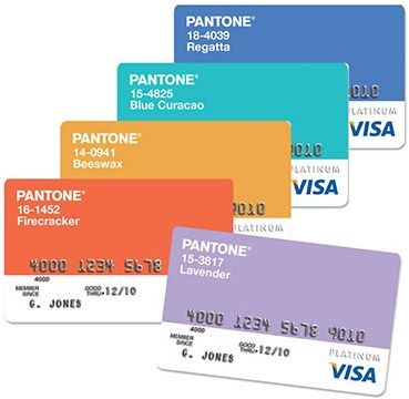 PMS Coloured Visa Cards. #Creative #Innovation