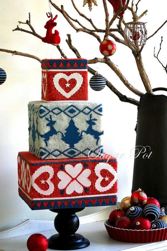 #FondantFriday - Daggy Christmas Jumper Cake • CakeJournal.com